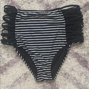 Skinny dip high waisted swim bottoms
